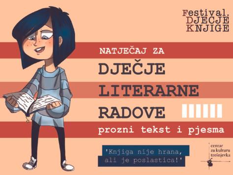 Natječaj za dječje literarne radove - Knjiga nije hrana, ali je poslastica!