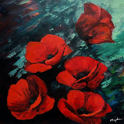 Floral 1: Field Poppies