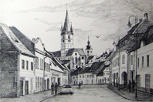 Street from medieval town