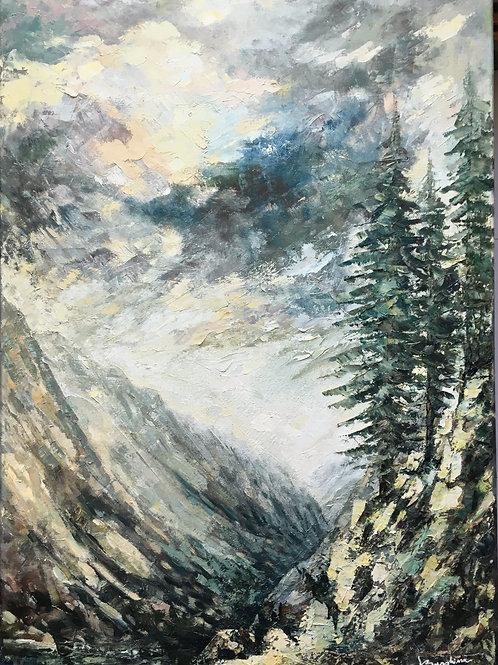 Trees on a Mountain Rock