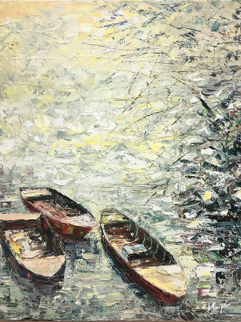 Wooden Boats at The Shore