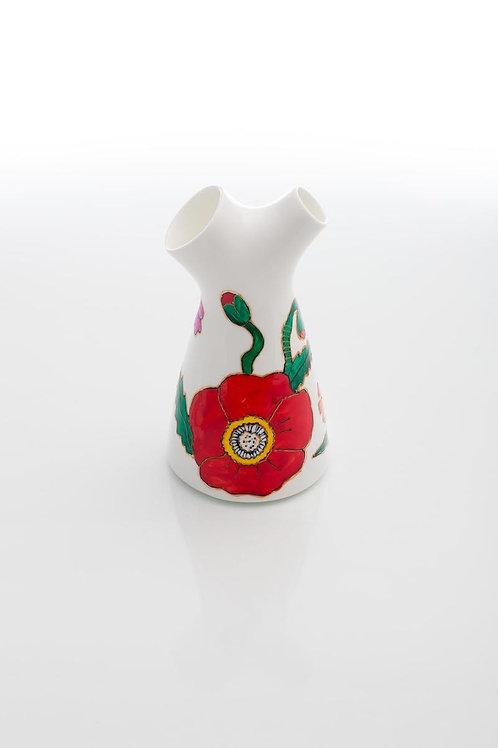 Vaza Pictata Bi-florala Mica