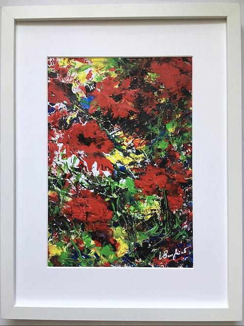 Red field flowers