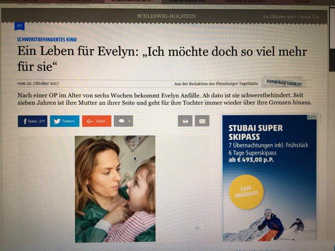 Evelyn in der shz
