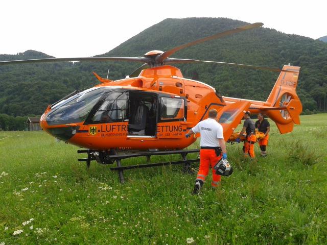 Notfall Heliflug nach Traunstein
