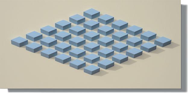 036.2 Geometric. wall sculpture by Allan Henderson. www.allanhenderson.me