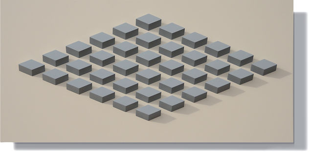 036.3 Geometric. wall sculpture by Allan Henderson. www.allanhenderson.me
