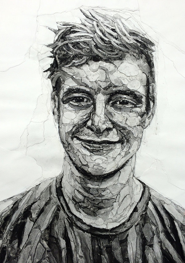 Collaged Portrait by Allan Hendrson. www.allanhenerson.me