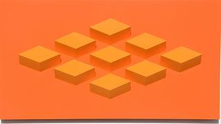 009.1 Geometric. wall sculpture by Allan Henderson. www.allanhenderson.me