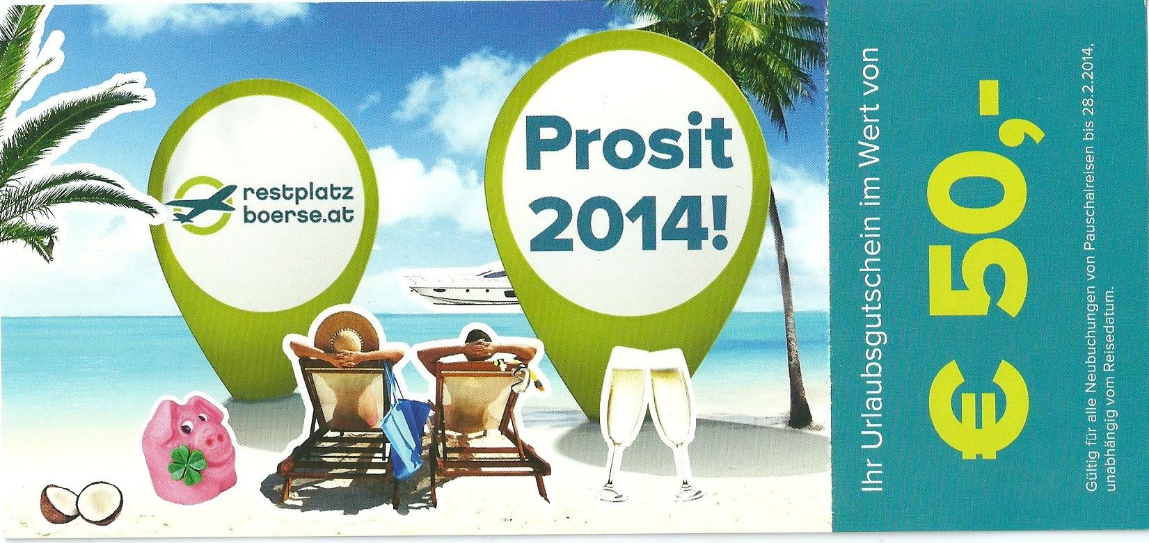Gutschein Prosit 2014