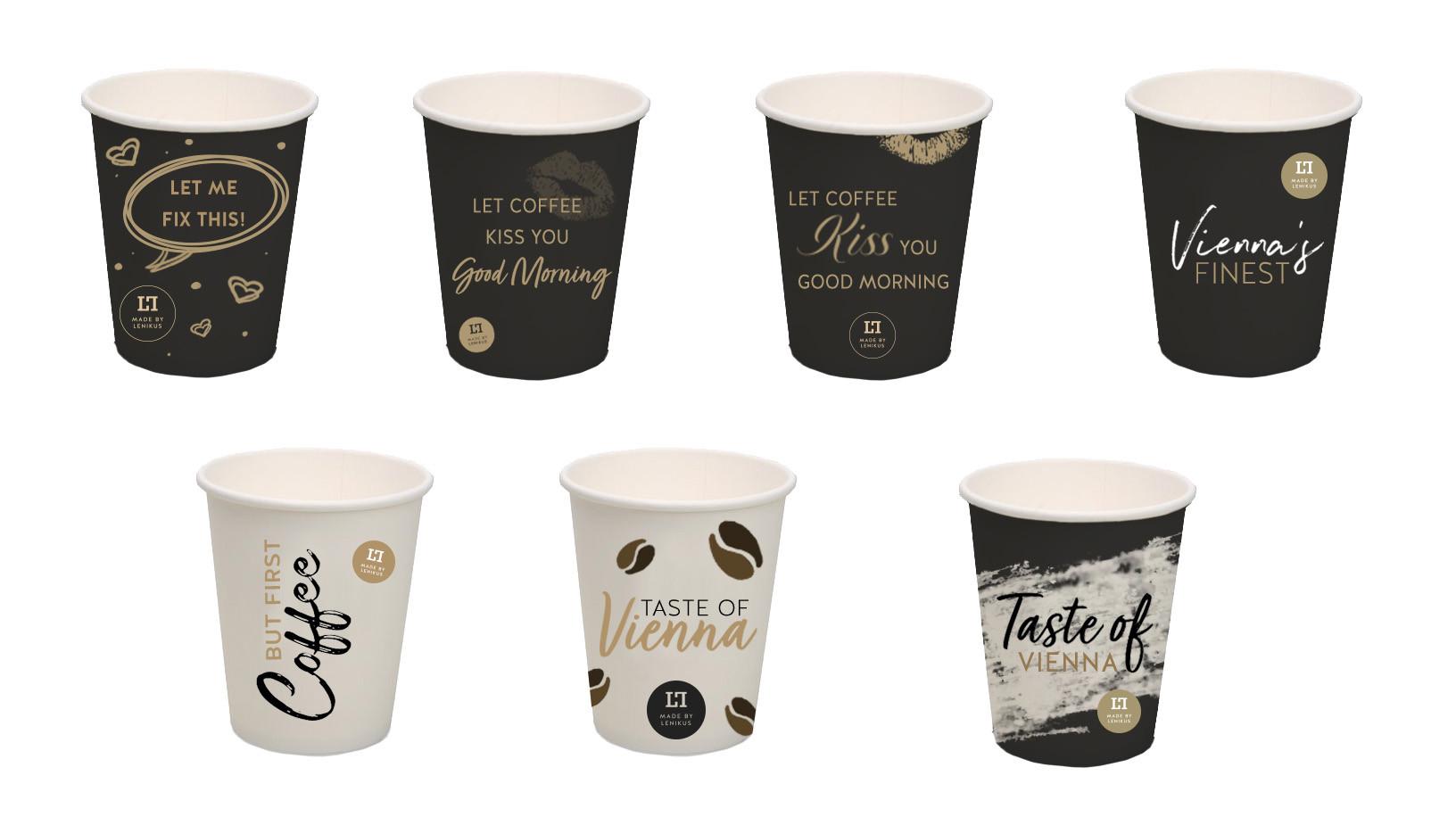 LENIKUS Entwürfe Kaffeebecher, 2018