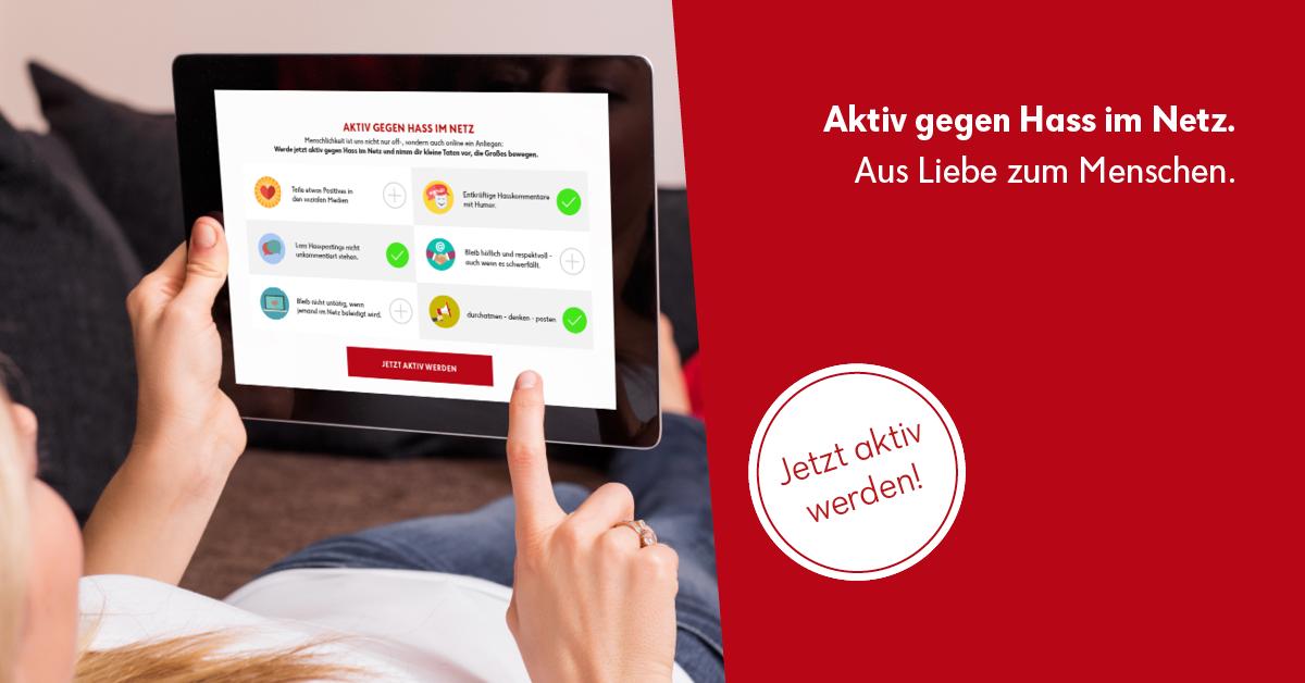 """Online Kampagne ÖRK """"Aus Liebe zum Menschen"""", 2017"""
