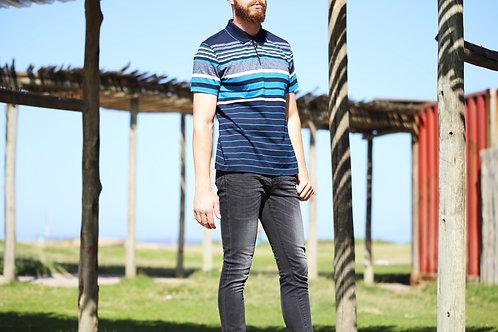 Men's Striped Golfer