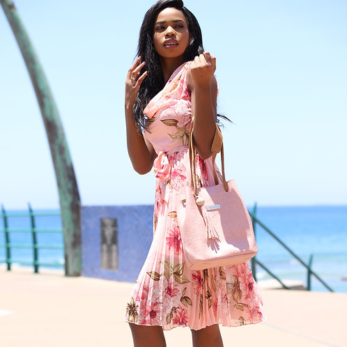Ladies Ciarra Pink Floral Dress