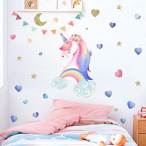 Wallsticker Unicorn Star