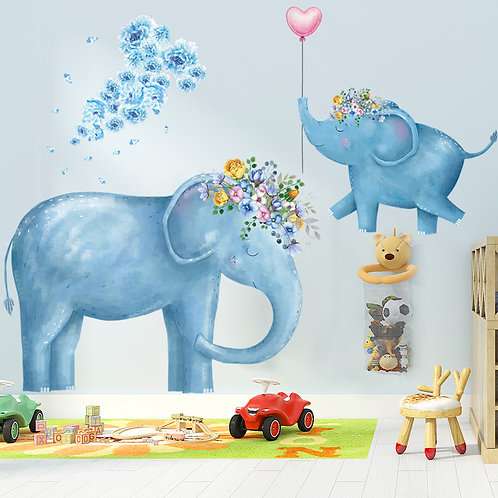 Wallsticker Elephant