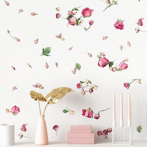 Wallsticker Flyvende Roser