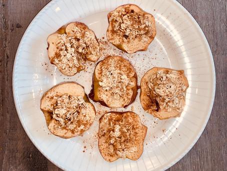 Maple Oat Baked Apples