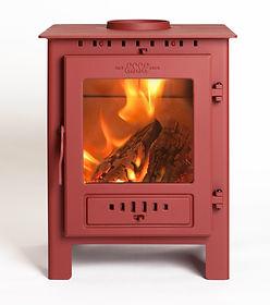 Red Multi Fuel Esse Burning Stove | Home Farm Stoves