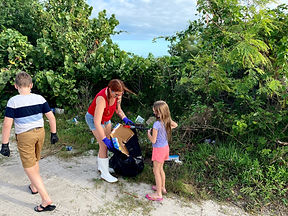 Trash cleanup off Pineda Causeway in Bre