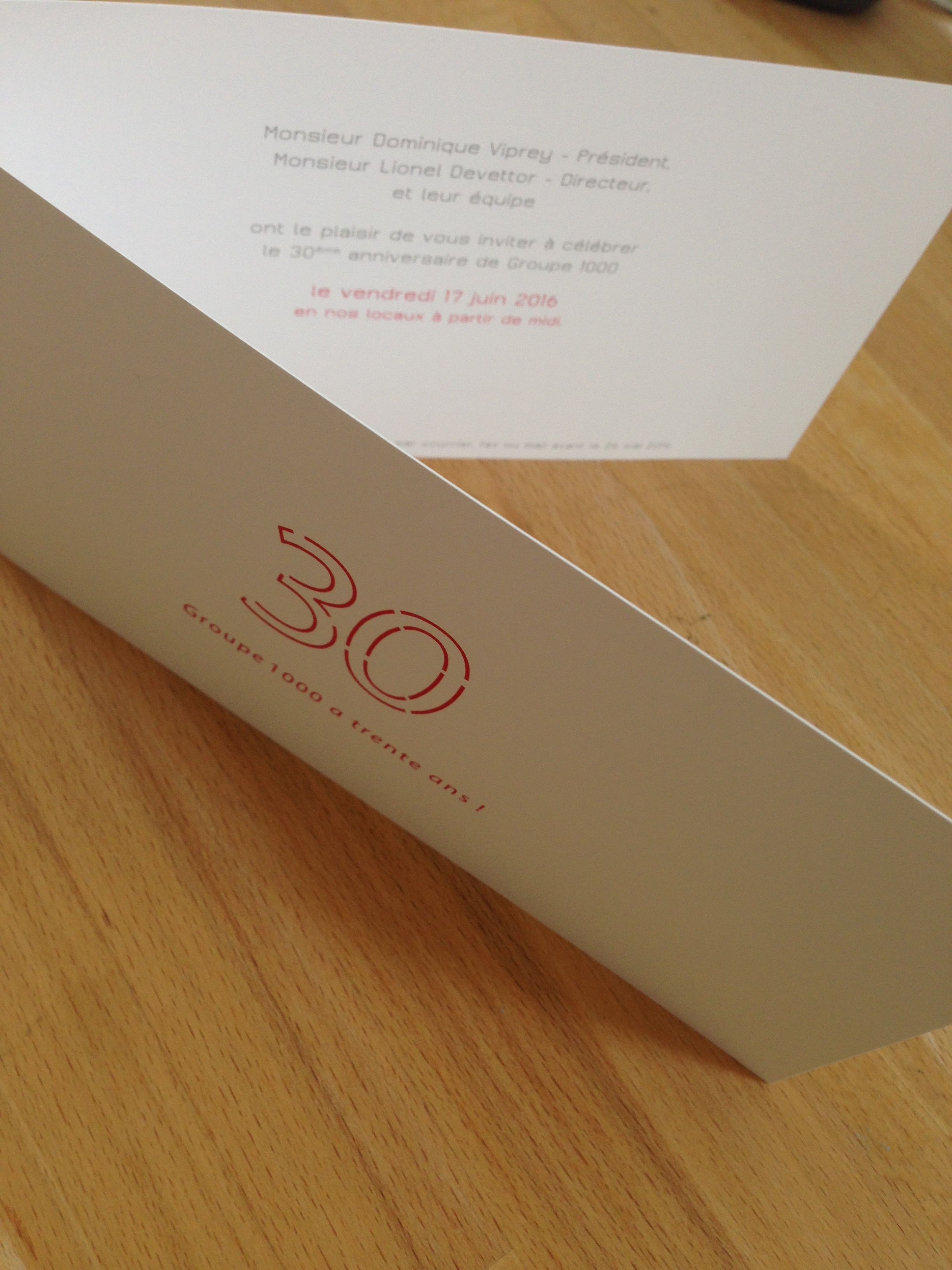 invitation 30 ans