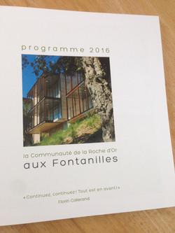livret programme RO 2016
