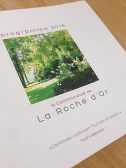 livret programme Roche d'or 2016