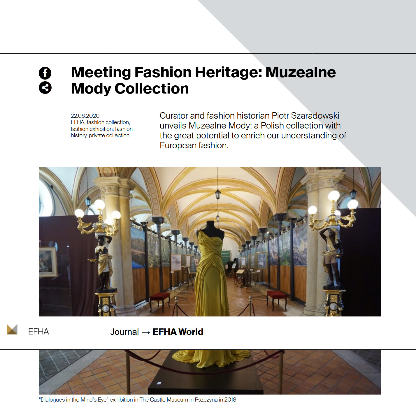 EFHA Meeting Fashion Heritage