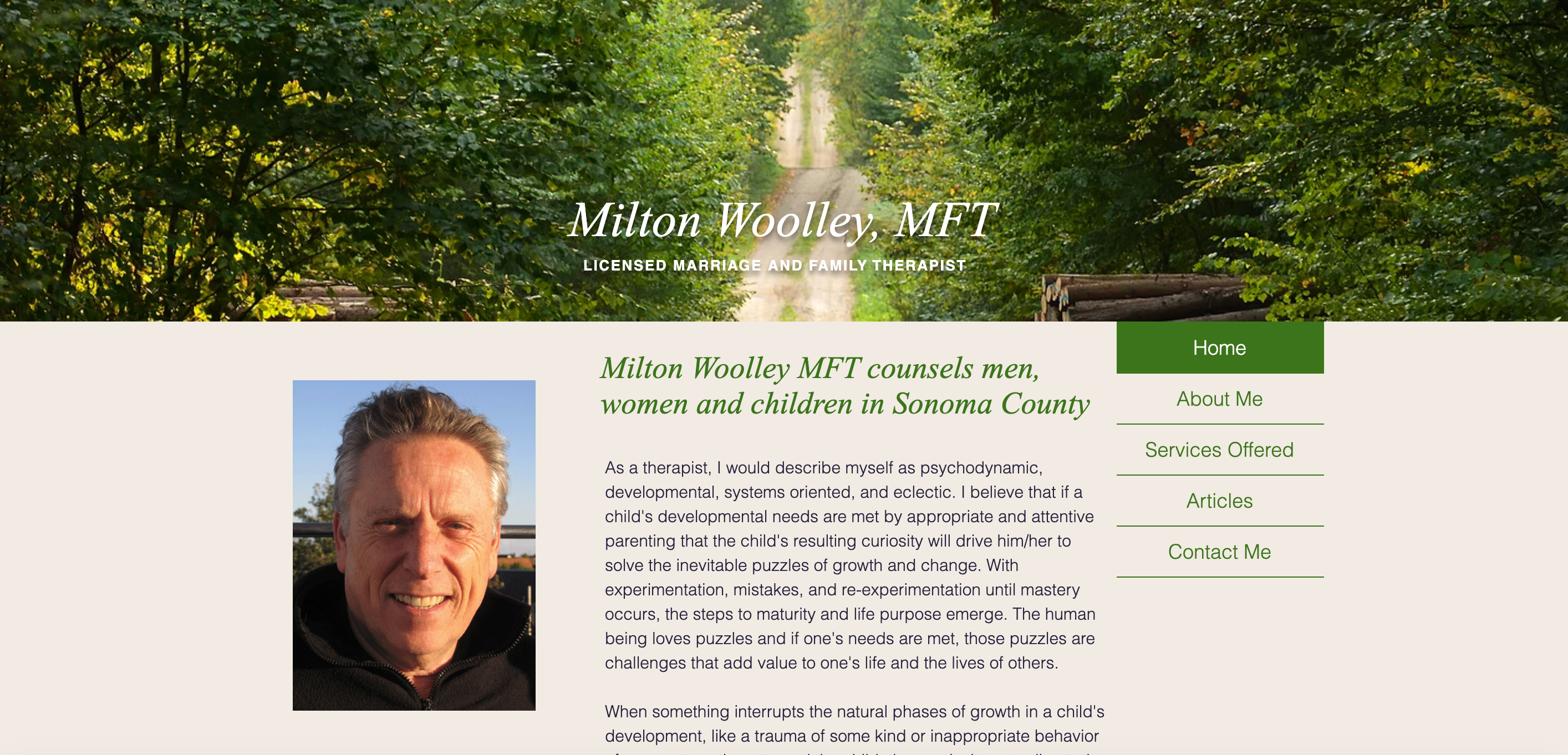 Milton Woolley Website
