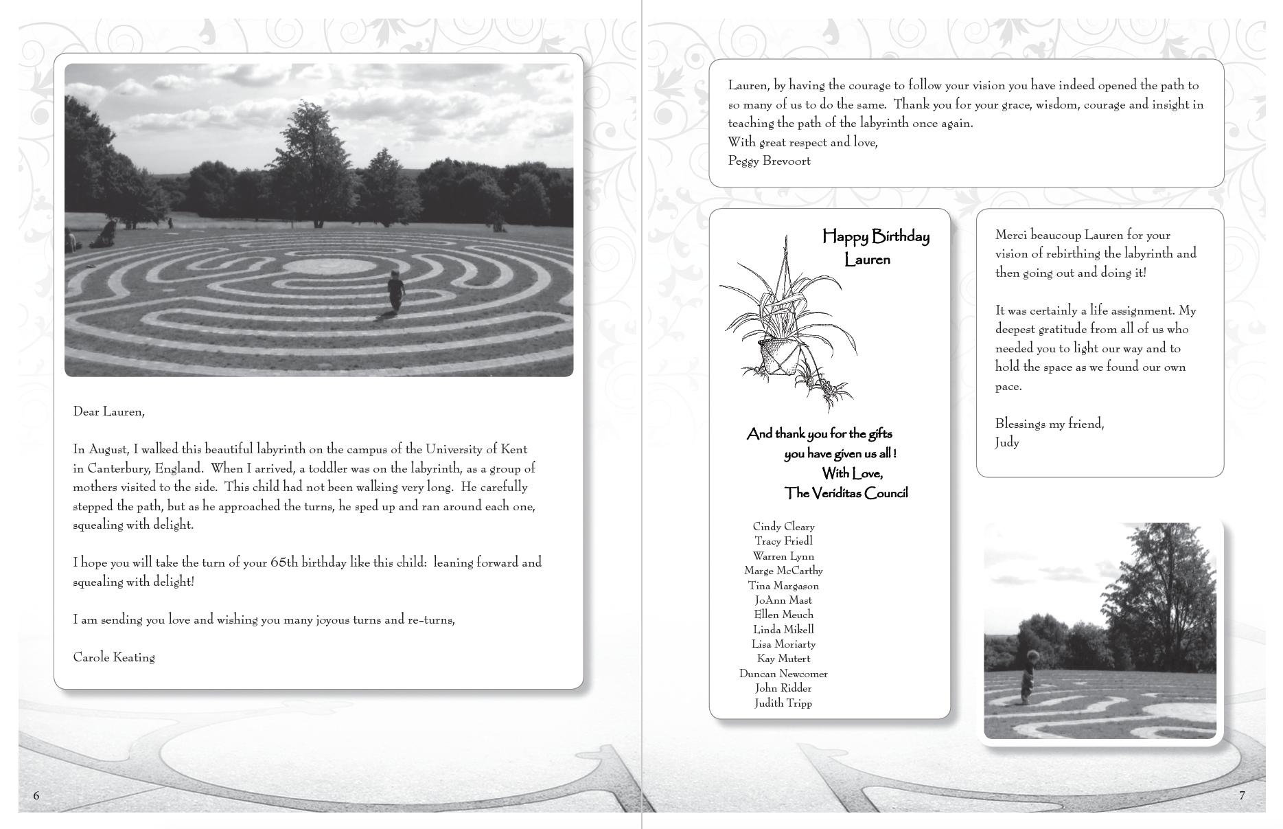 Lauren Artress Birthday Journal