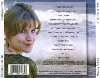 Denise Mihalik CD Cover Design
