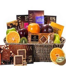 Godiva and Fruit Basket