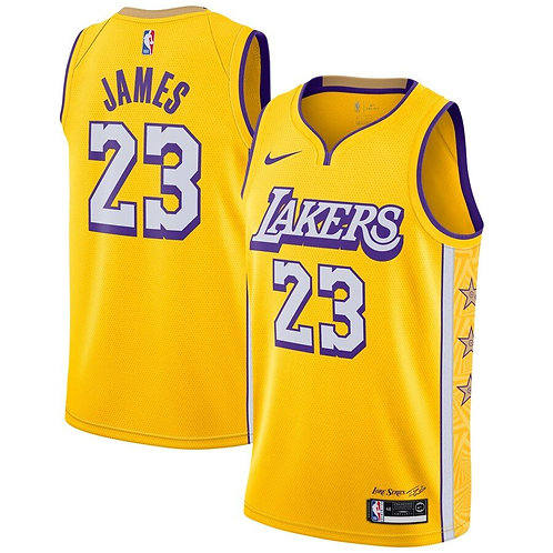 Los Angles Lakers James #23 city edition