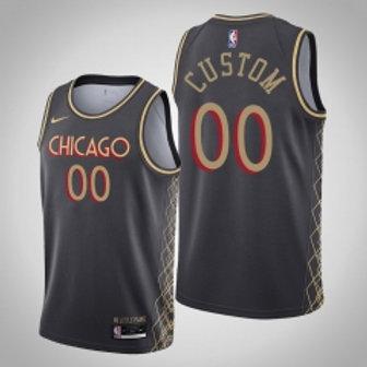 Chicago Bulls heatpressed City jersey