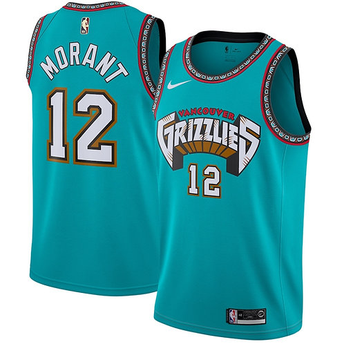Memphis Grizzlies throwback jersey Morant #12