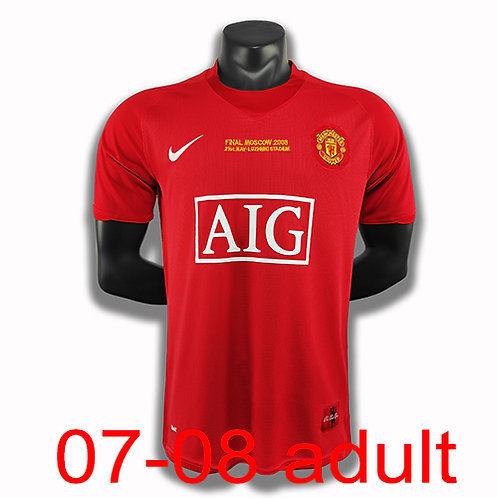 Man United 2007/2008 home jersey