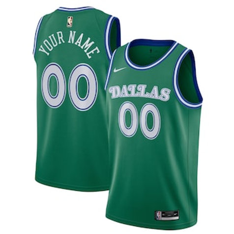 Dallas Mavericks heatpressed Classic jersey