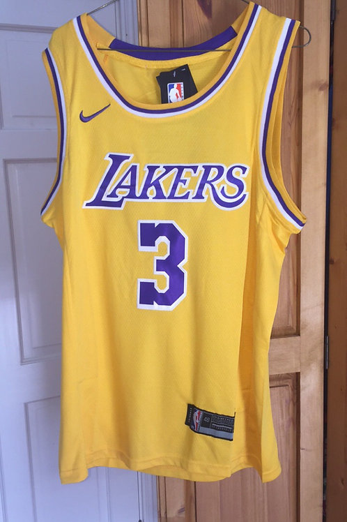 La lakers Anthony Davis #3 Home jersey
