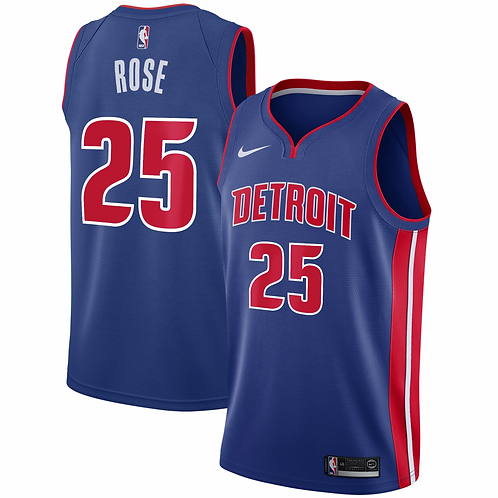 Detriot Pistons Rose #25 Icon Jersey