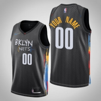 Brooklyn Nets heatpressed City jersey