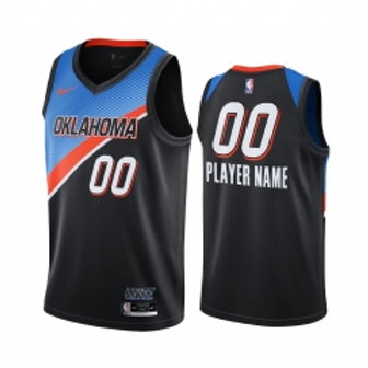 Oklahoma Thunder heatpressed City jersey