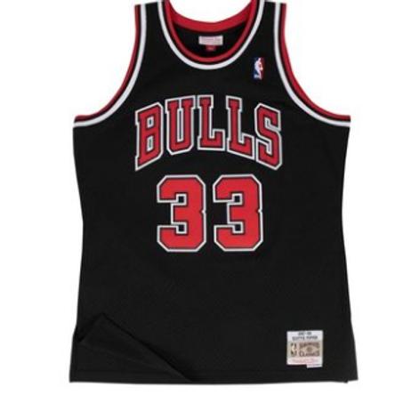 Bulls 1996/97 classic jersey (Black Pippen 33)