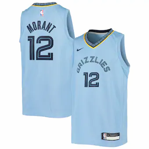 Memphis Grizzlies Morant #12 Statement jersey