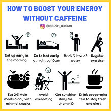 How to boost your energy without caffein