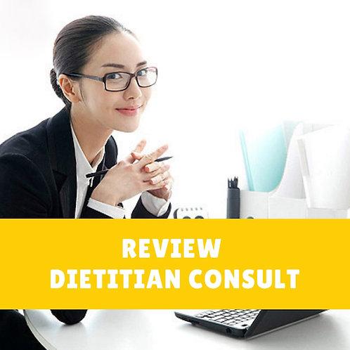 Review Dietitian Consultation