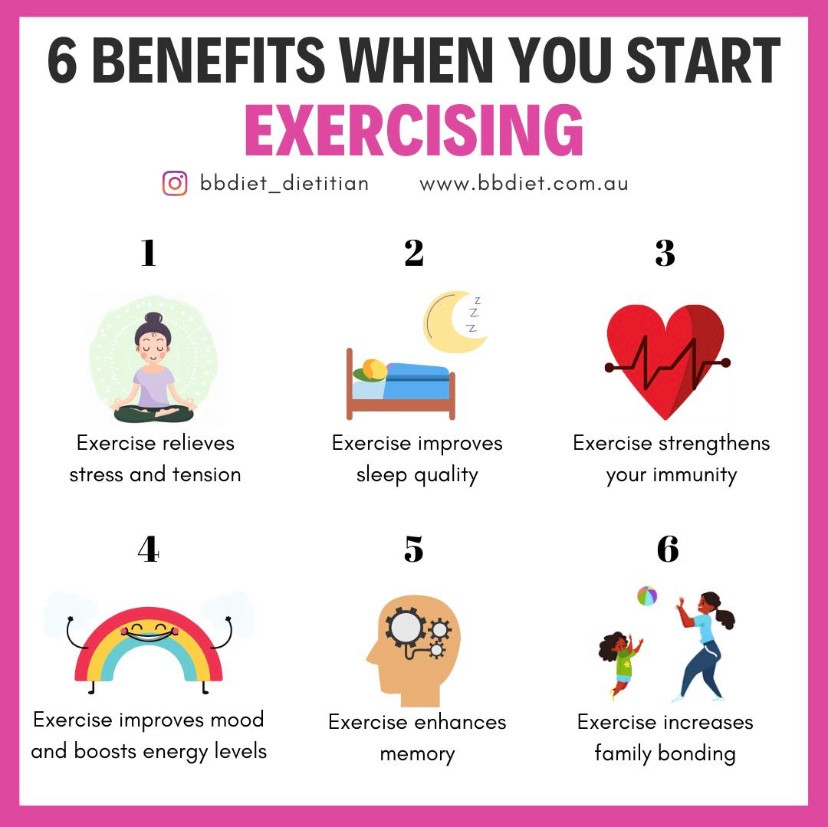 6 Benefits when you start exercising
