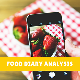 Food diary analysis BBDiet dietitian