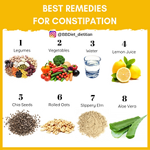 Best remedies for constipation infograp