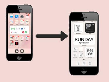 Как поменять оформление главного экрана на Iphone(Ipad).
