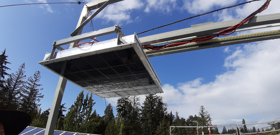 10 KW Concentrated Solar Mirror System, NRC Building, UBC, Vancouver, BC